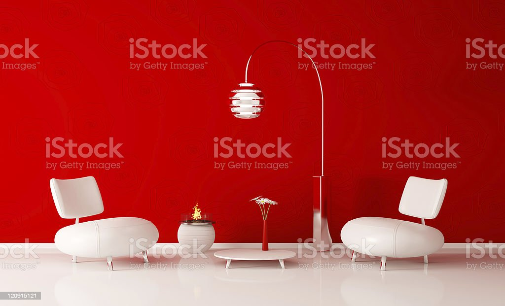 Modern interior of room 3d render royalty-free stock photo