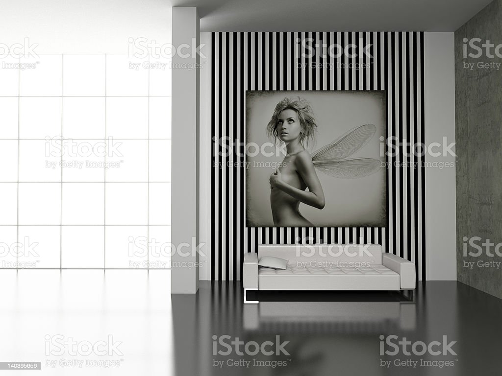 Modern interior. royalty-free stock photo
