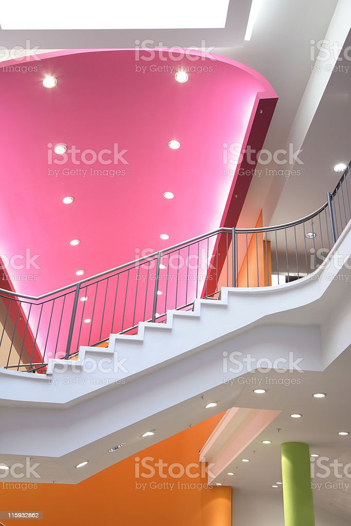 Modern Interior with a stairs royalty-free stock photo