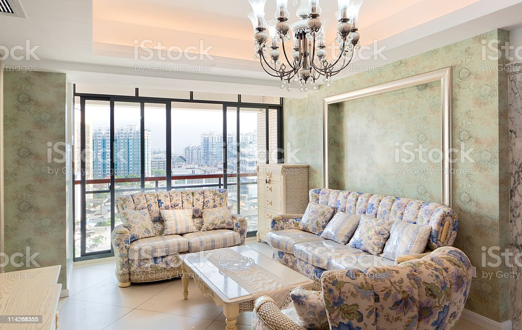 Modern interiors with sofa and table royalty-free stock photo