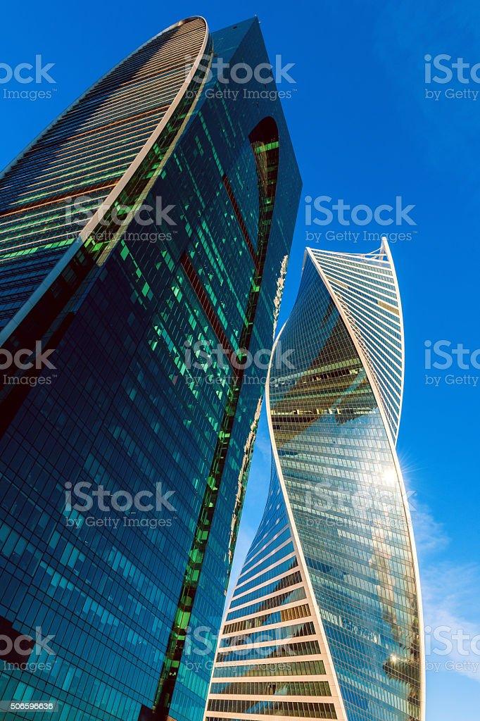 Modern International Business Center Moscow City, Russia stock photo