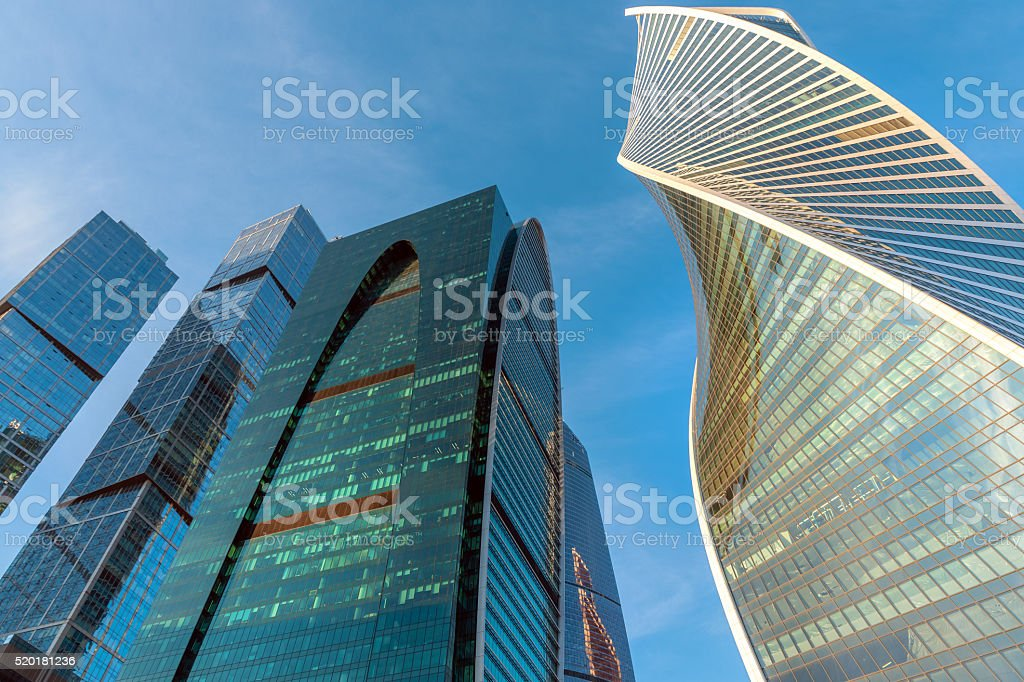 Modern International Business Center Moscow City,afternoon, Russia stock photo