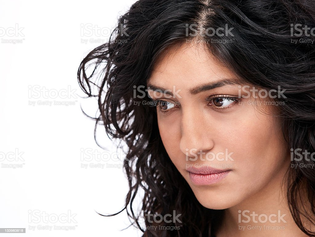 Modern iranian woman - closeup stock photo