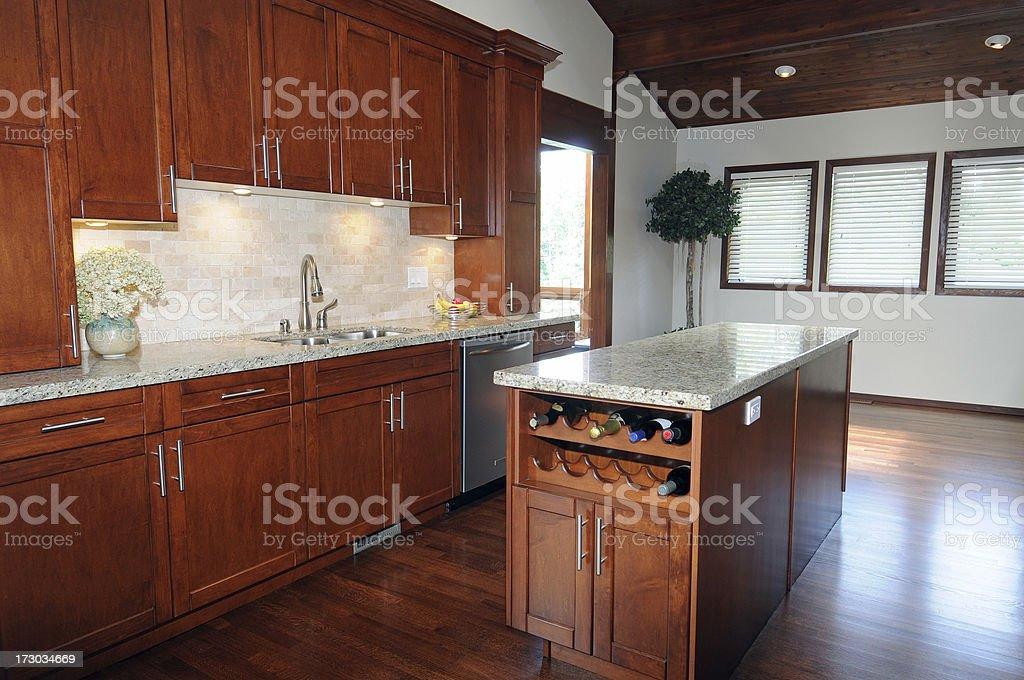 Modern Island Kitchen royalty-free stock photo
