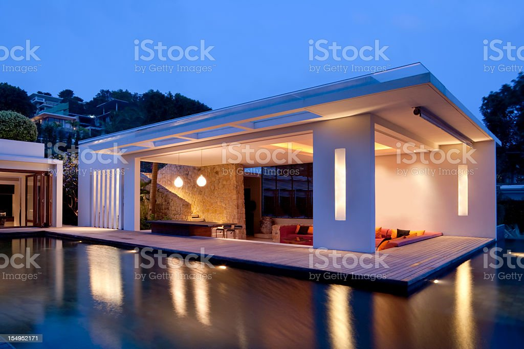 Modern Island Villa royalty-free stock photo