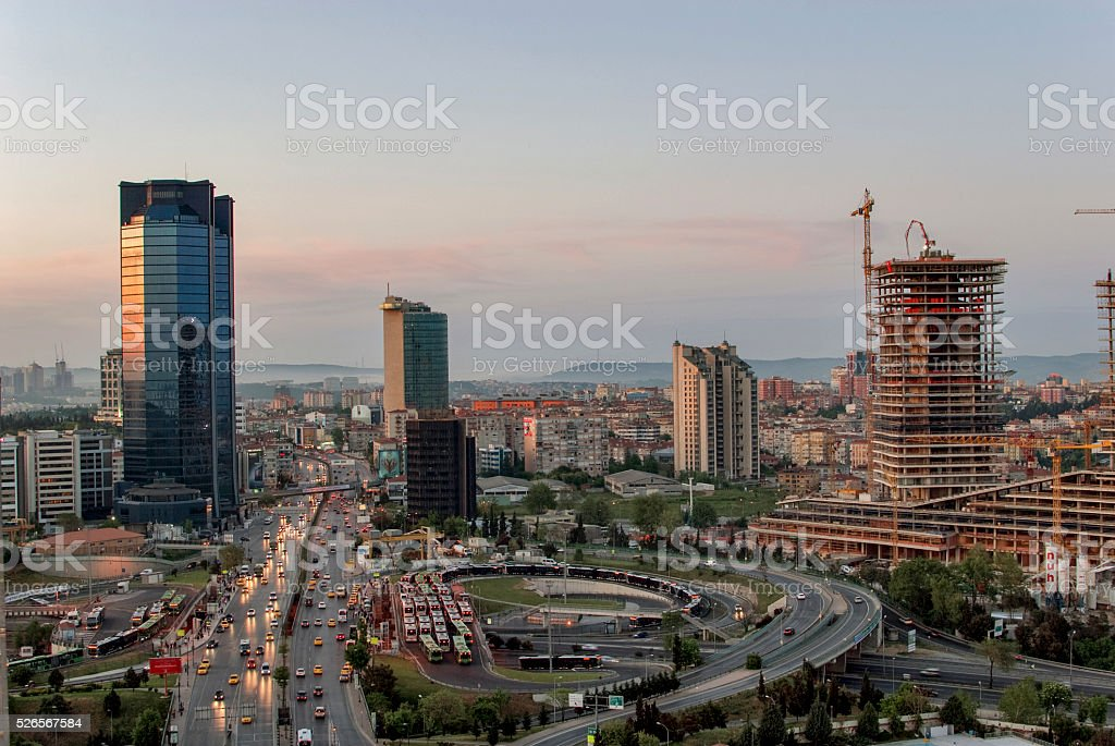 Modern Istanbul cityscape stock photo
