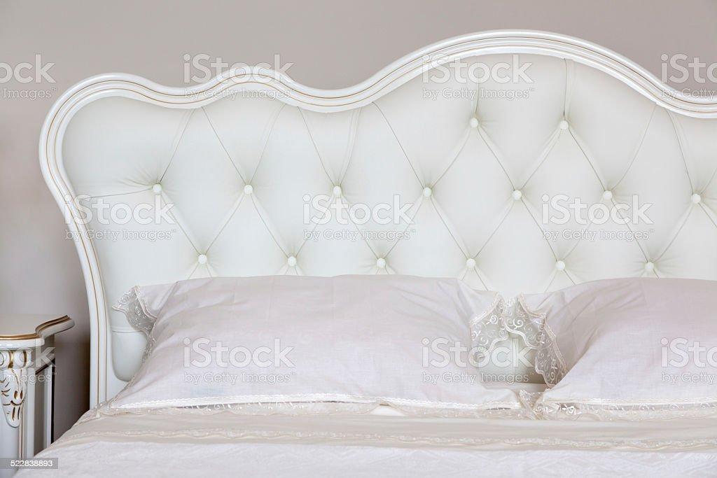 Modern italian style bedroom stock photo