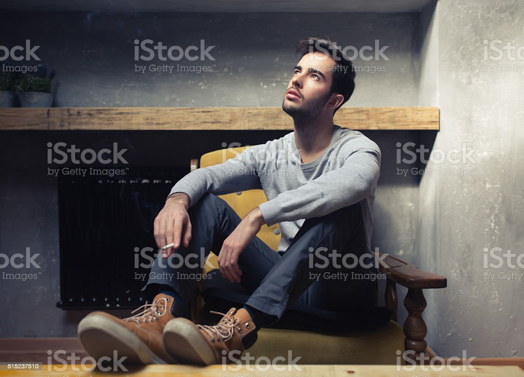 Modern James Dean stock photo