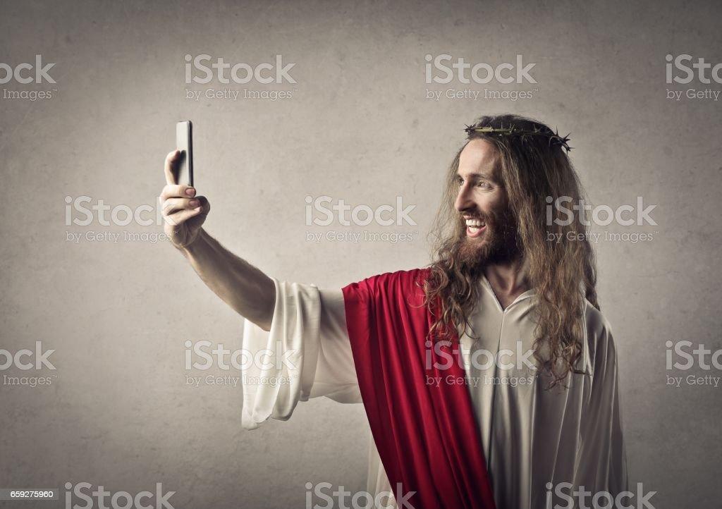 Modern Jesus stock photo
