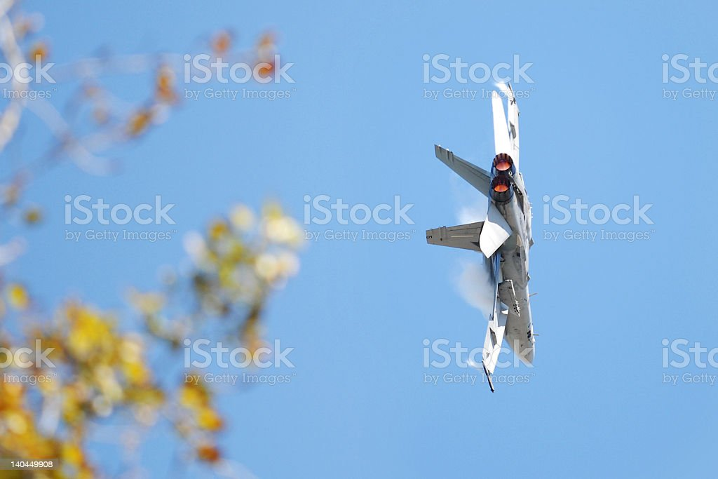 Modern Jet Aicraft - FA-18 Hornet in flight royalty-free stock photo