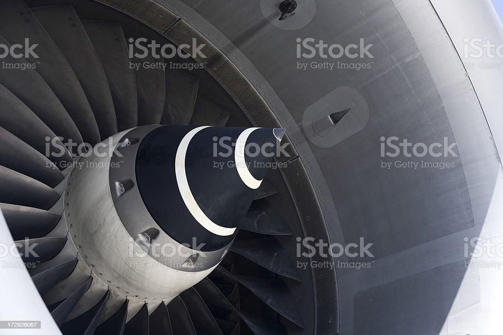 Modern Jet Engine stock photo