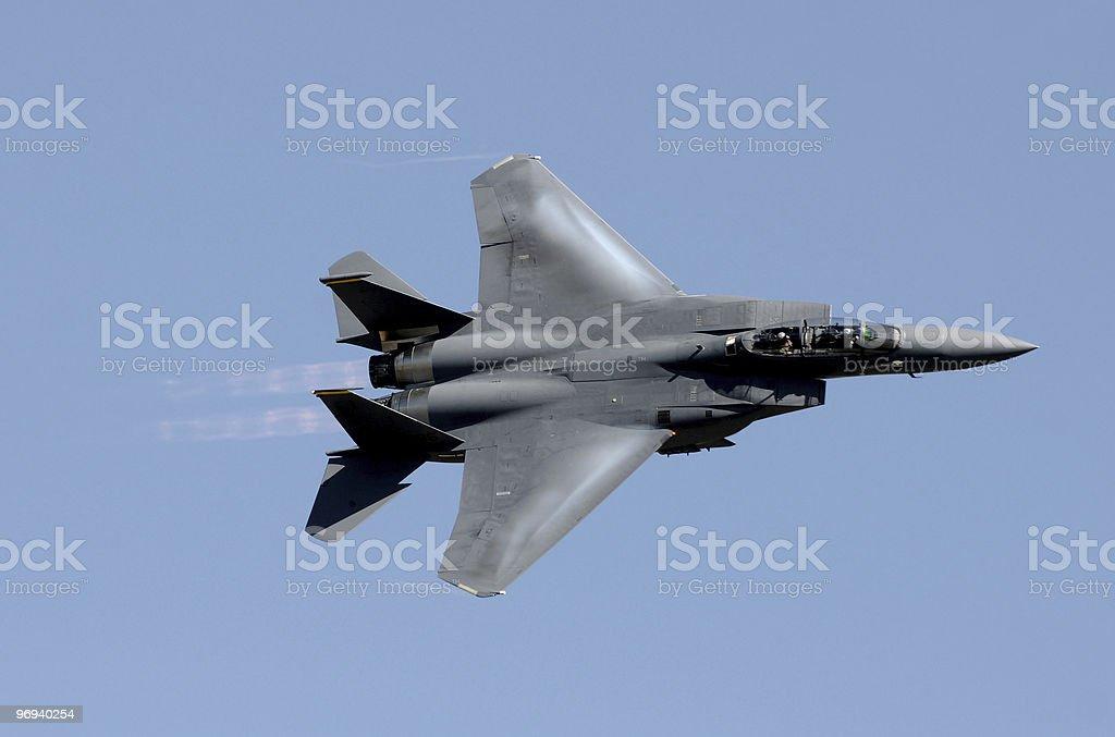 Modern jetfighter stock photo