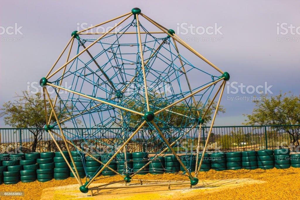 Modern Jungle Jym At Kids Park in Arizona Desert stock photo
