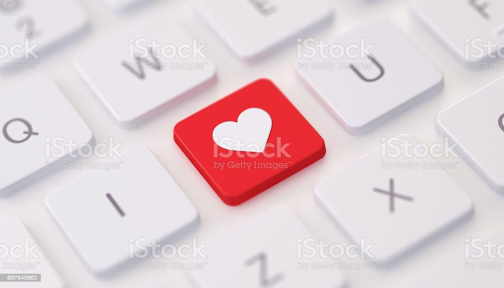 Modern Keyboard wih I Love You Message stock photo