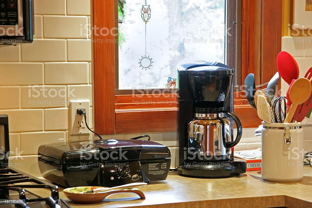 Modern Kitchen Appliances stock photo