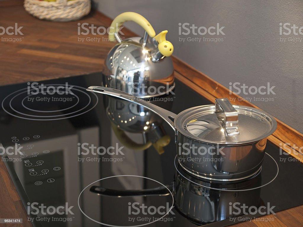 Modern kitchen ceramic stove royalty-free stock photo