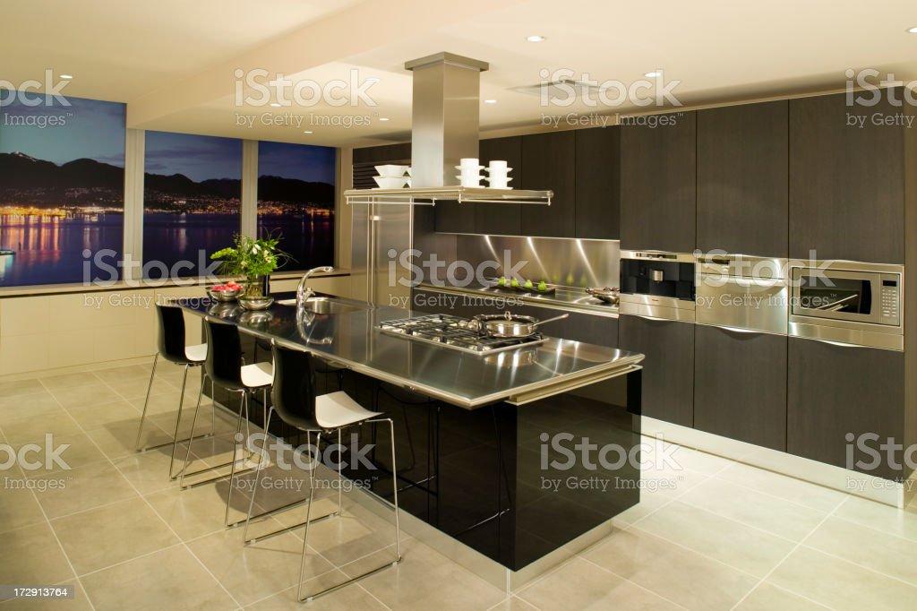 modern kitchen condo apartment royalty-free stock photo