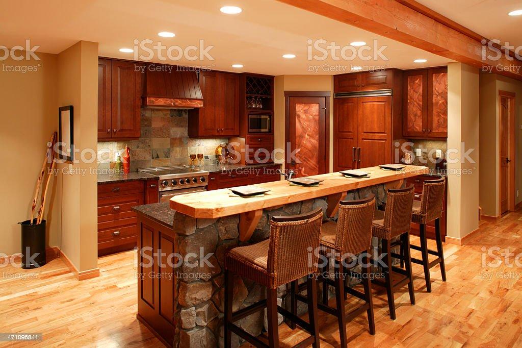 modern kitchen home interior royalty-free stock photo