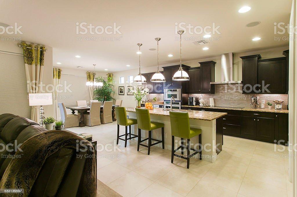 Moderne Küche House Innenansicht Stockfoto 533135597 Istock
