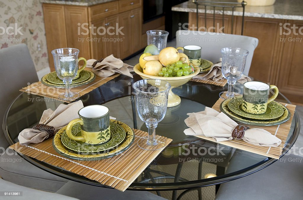Modern Kitchen in Luxury Home Suburbia royalty-free stock photo