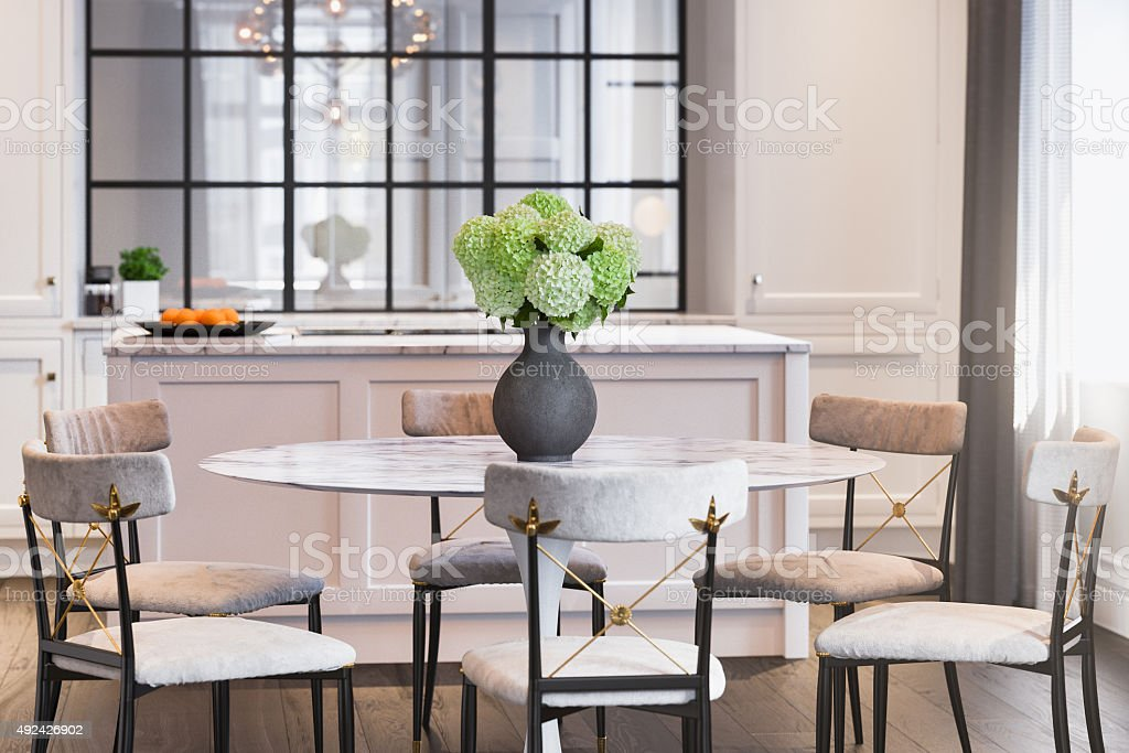 Modern Kitchen Interior design stock photo
