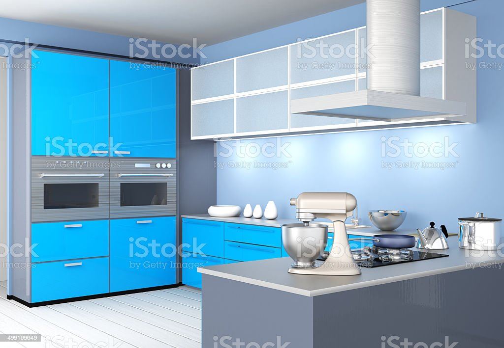 Modern kitchen interior design royalty-free stock photo