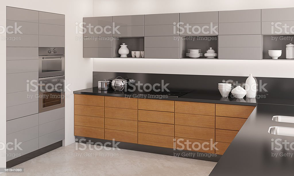 Modern kitchen interior. royalty-free stock photo