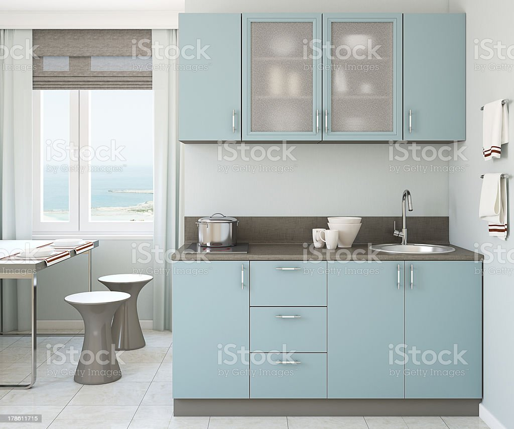 Modern kitchen interior. stock photo