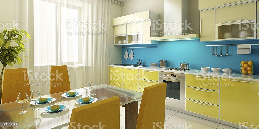 modern kitchen interior royalty-free stock photo