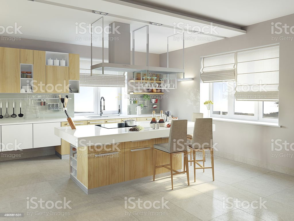 modern kitchen stock photo