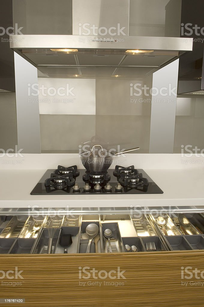 Modern Kitchen with Large Oven royalty-free stock photo