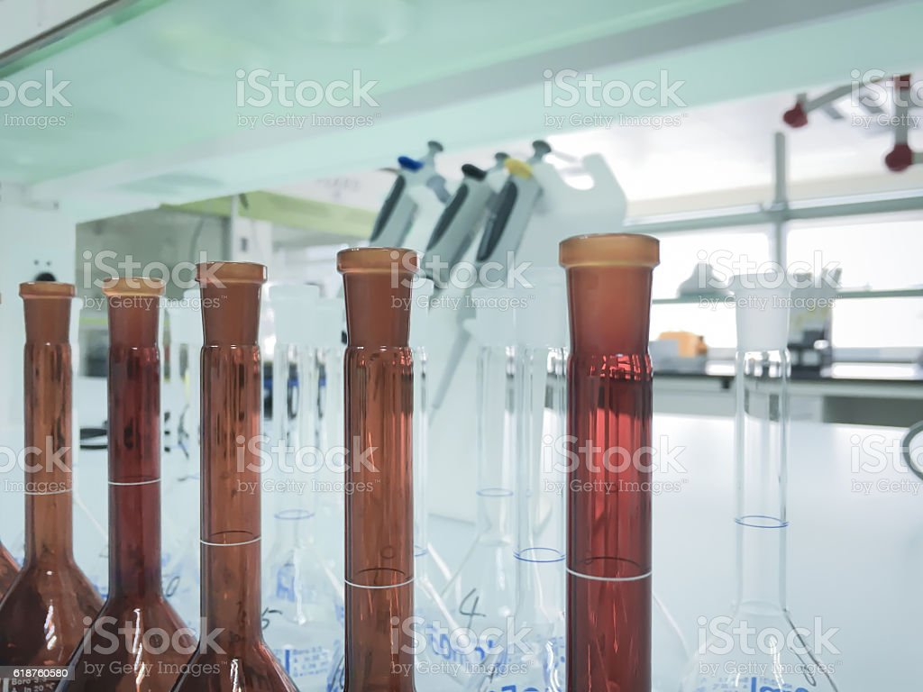 Modern laboratory background,science background stock photo