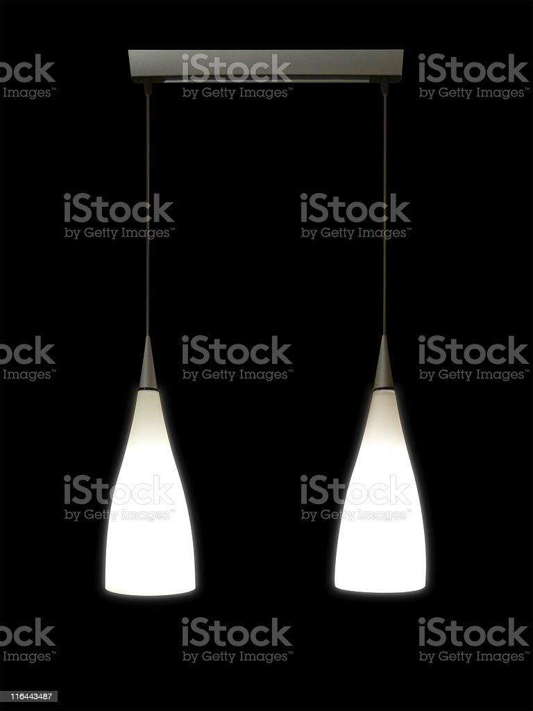 Modern lamps stock photo