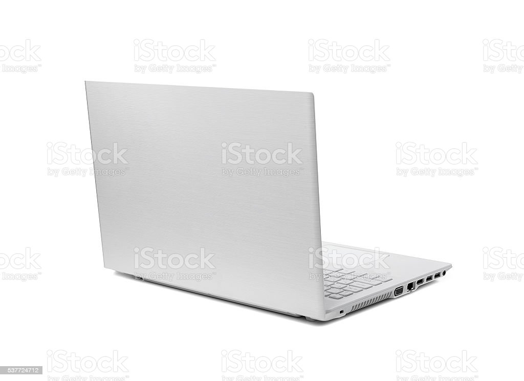 Modern laptop isolated. stock photo