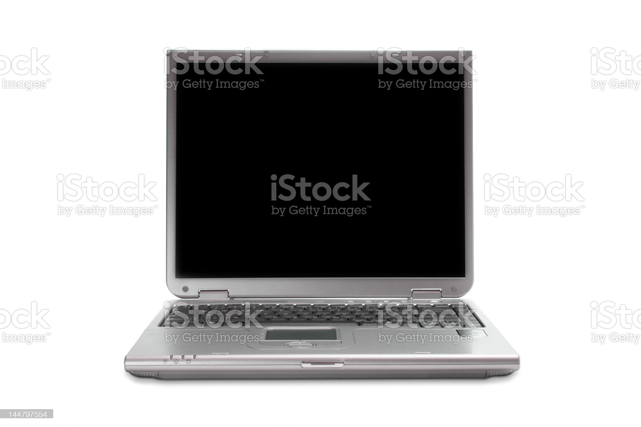Modern laptop isolated with clipping path royalty-free stock photo