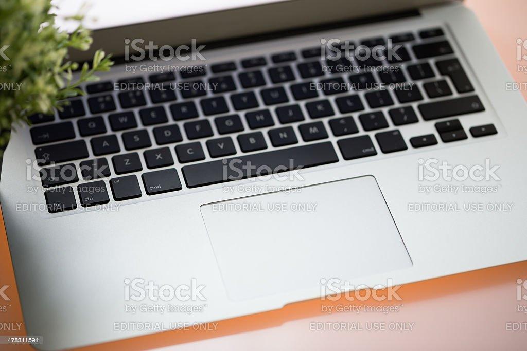 Modern Laptop Keyboard stock photo