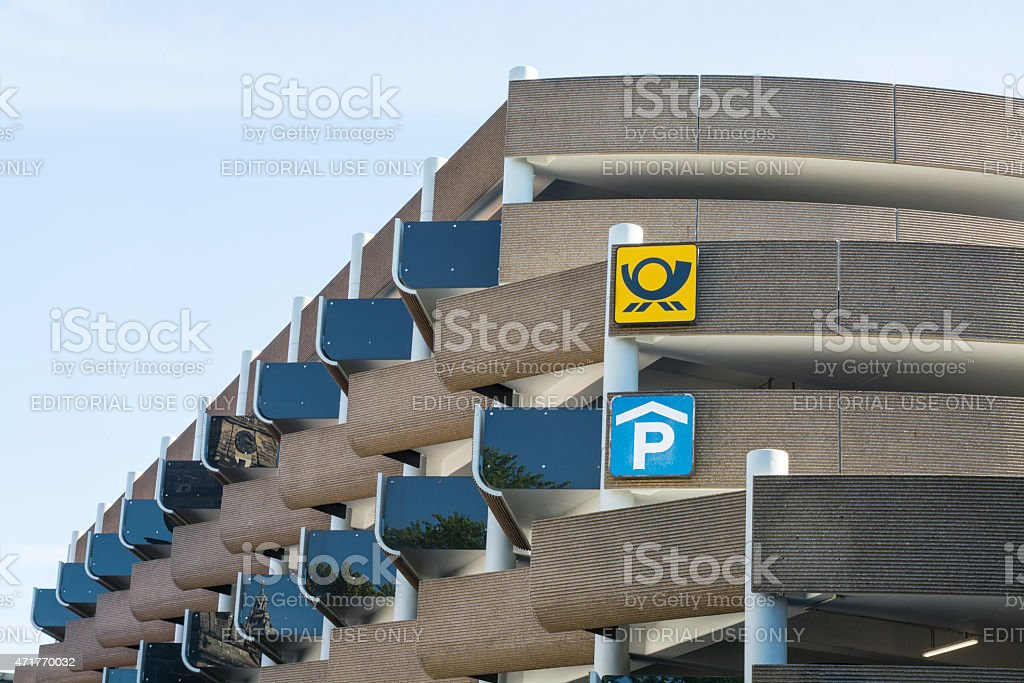 Modern large parking garage at Hannover, Germany stock photo