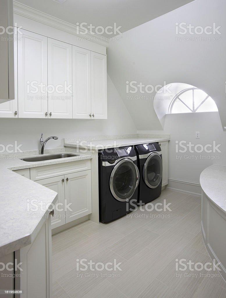 Modern Laundry Room stock photo