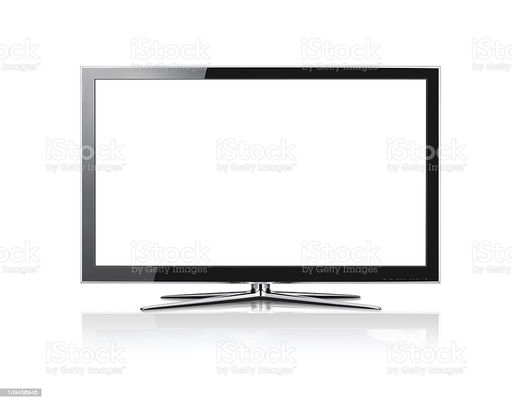 Modern  LCD panel on white stock photo