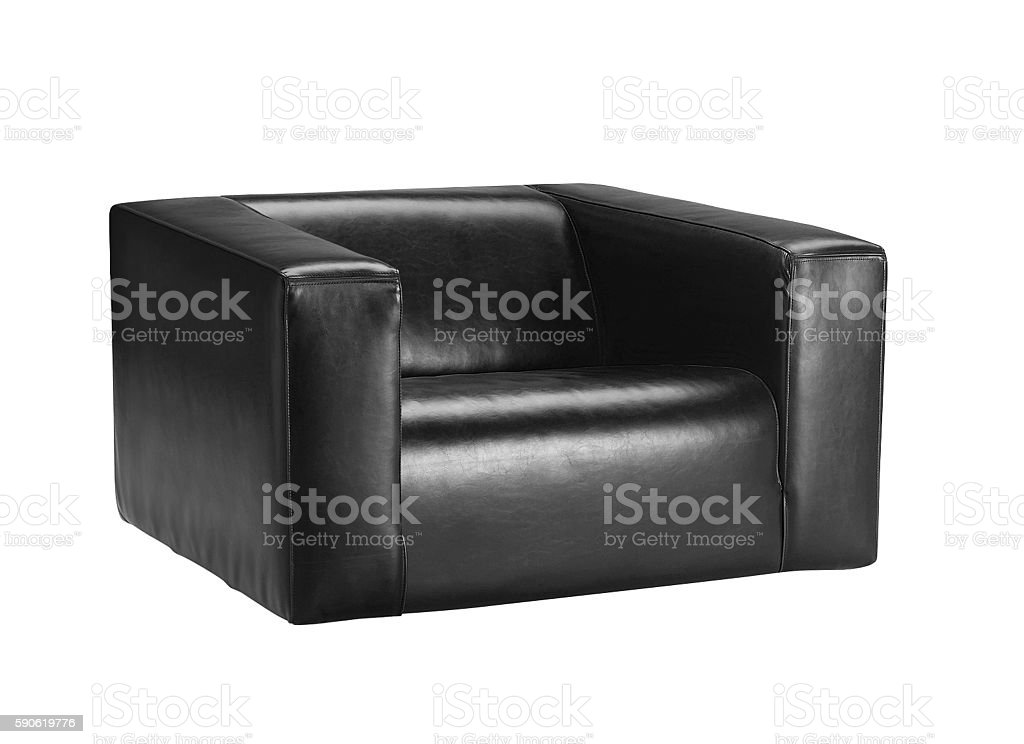 modern leather chair isolated stock photo
