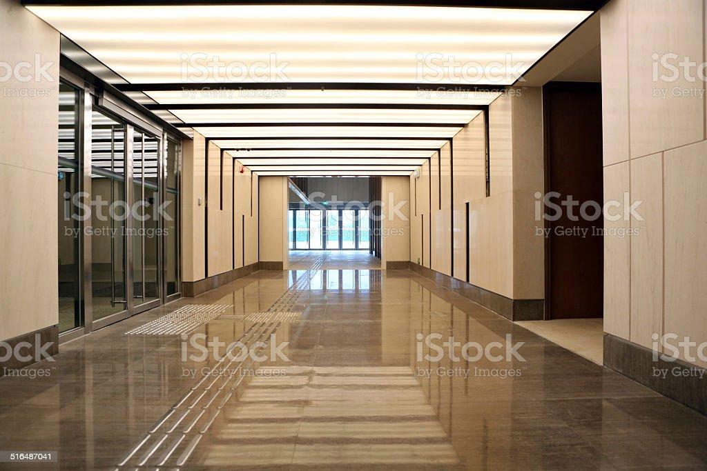 Modern LED Corridor Lighting stock photo