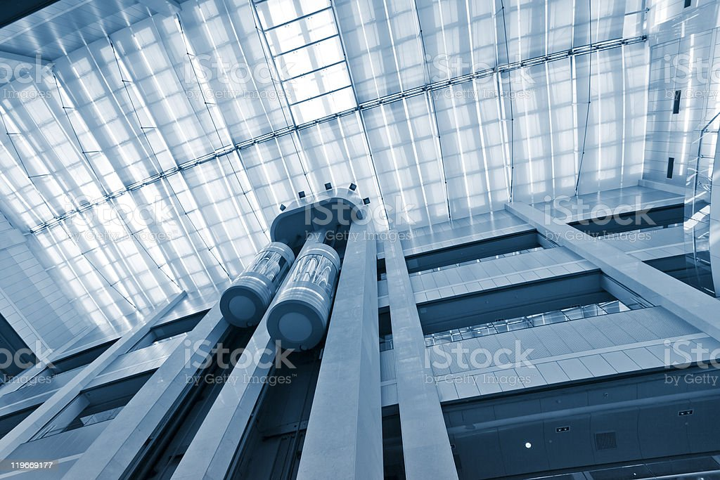 modern lift royalty-free stock photo
