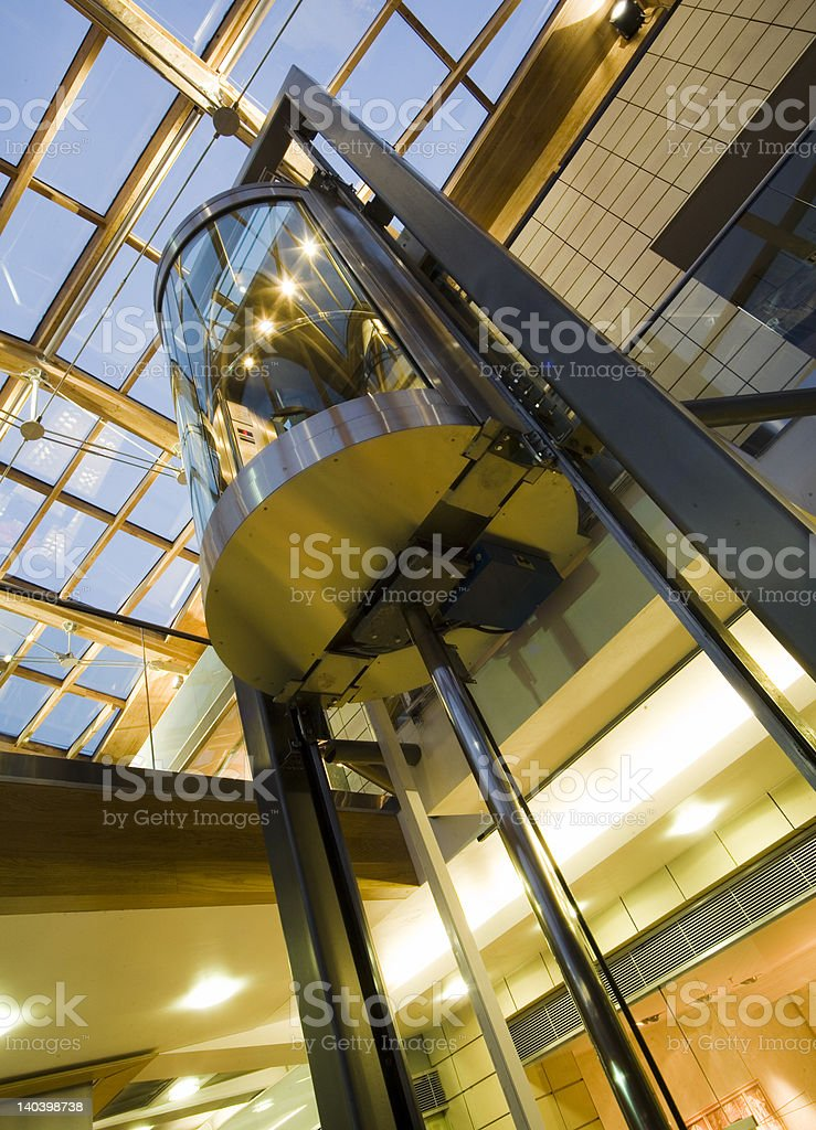 modern lift stock photo