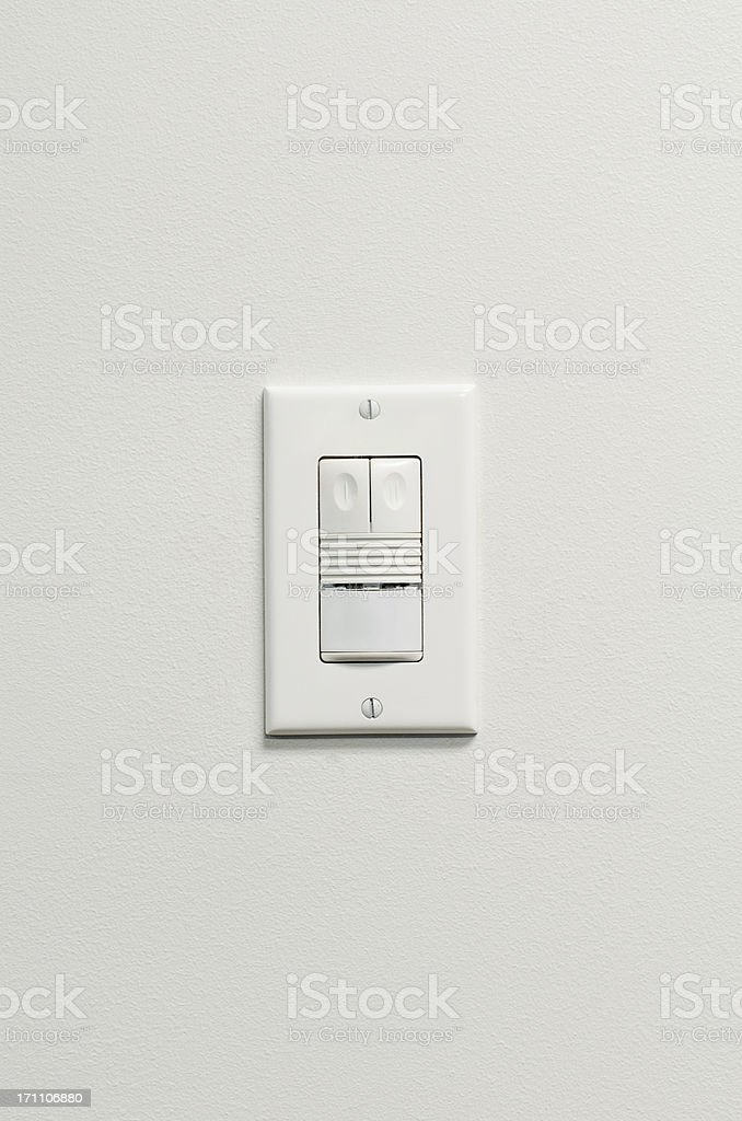 Modern Light Switch stock photo