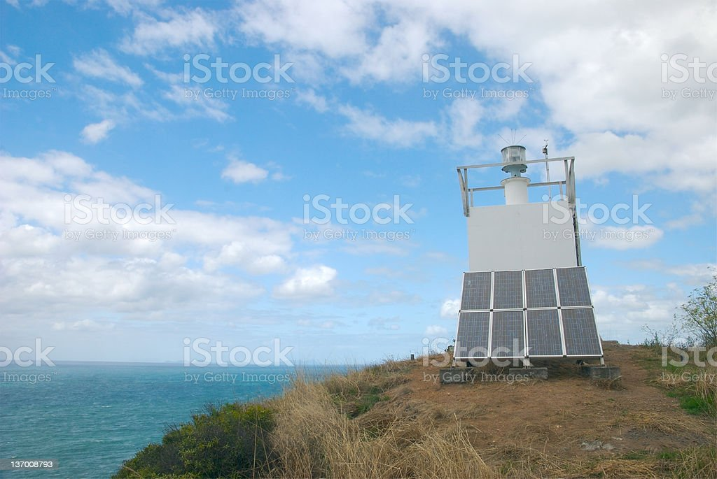 Modern lighthouse stock photo
