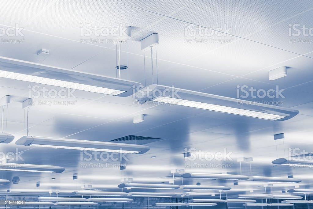 Modern lighting bars indoors stock photo