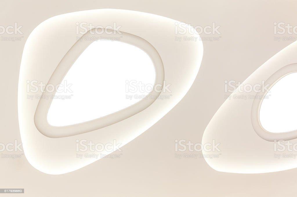 Modern lighting equipment in ceiling stock photo