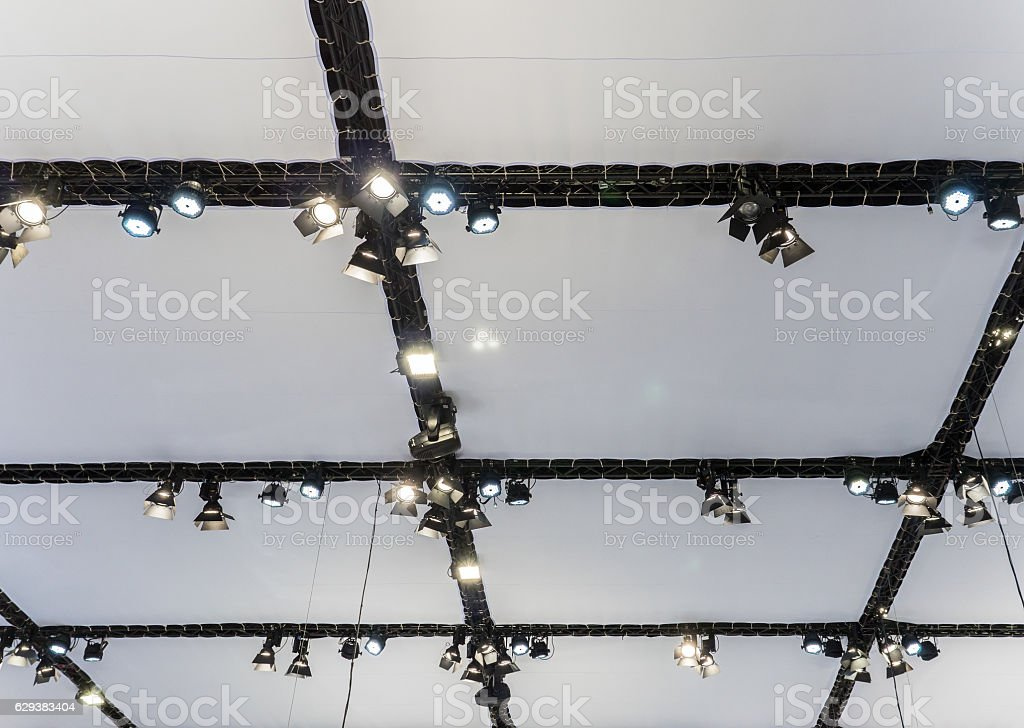 Modern lighting system. stock photo