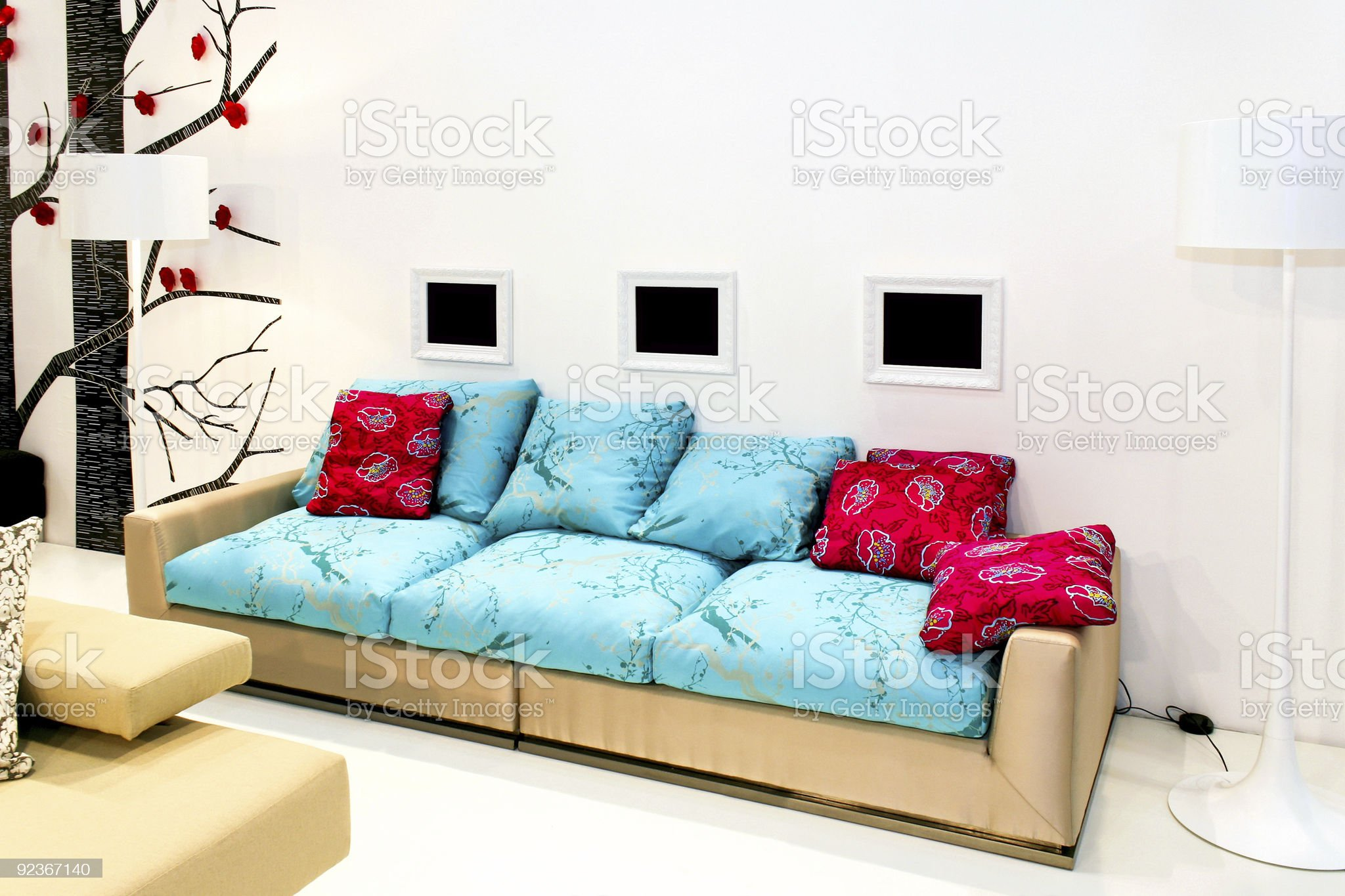 Modern living area royalty-free stock photo