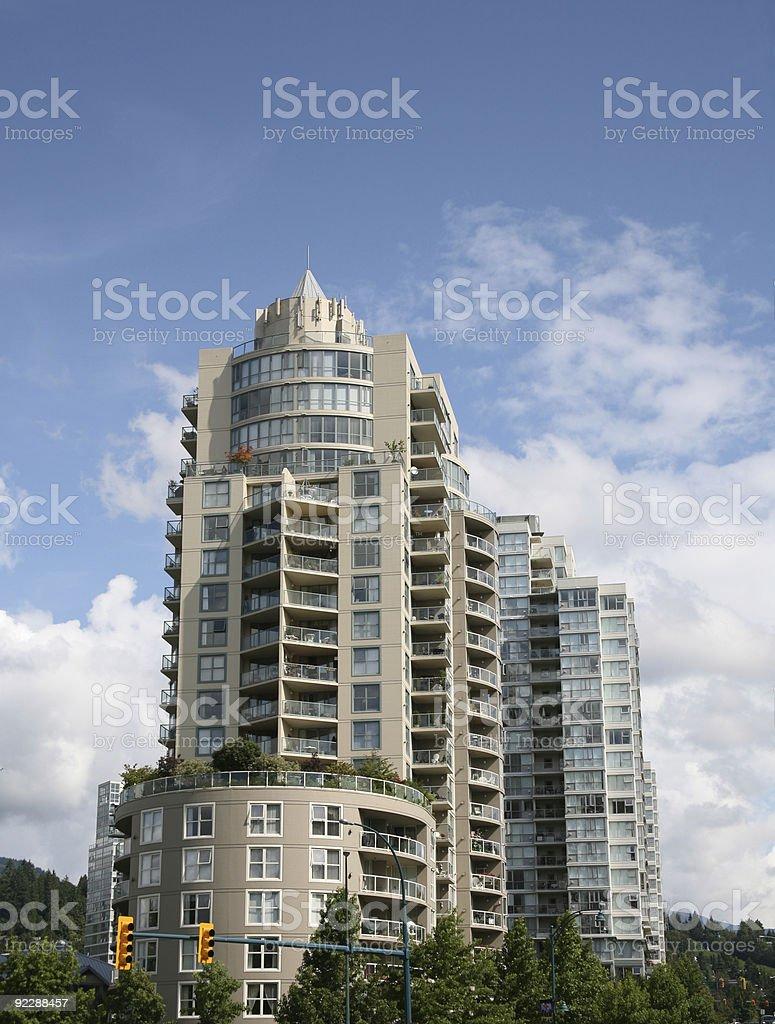 Modern Living Highrise Condominium - British Columbia, Canada royalty-free stock photo